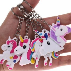 Accessories - Flamed Unicorn Keychain